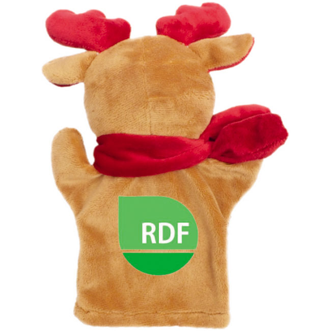 Dazzle, plush reindeer, hand puppet,Brown,W4F0169,Mascots & Toys