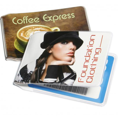 promotional Full Colour Card Wallet,W4F0368,colour: Transparent,Desk & Office Items,Water4Fish,promotional products