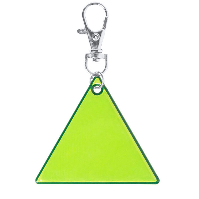 Triangle keyring,Yellow,W4V0448,Keyrings & Keyfobs
