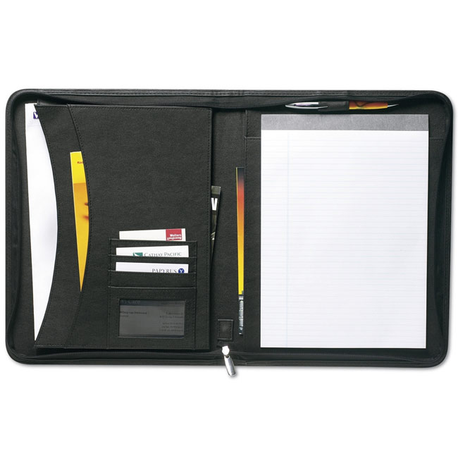 Conference folder A4 with notepad,Black,W4V2307,Conference bags & Folders