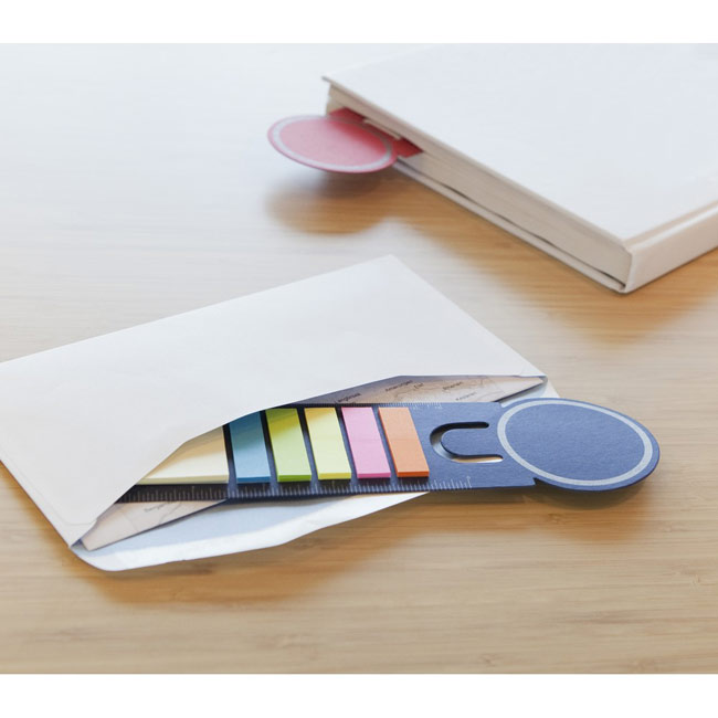 Bookmark with sticky notes and ruler,,W4V2542,Notebooks