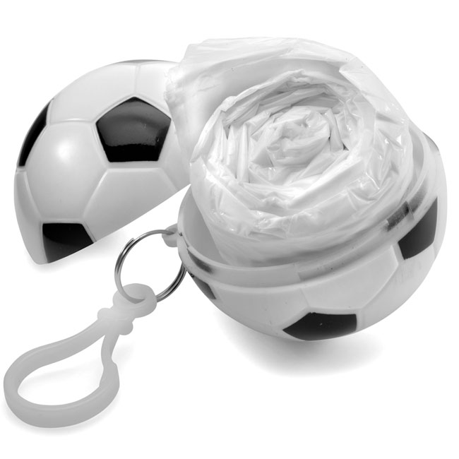 Poncho in football,White,W4V4269,Keyrings & Keyfobs