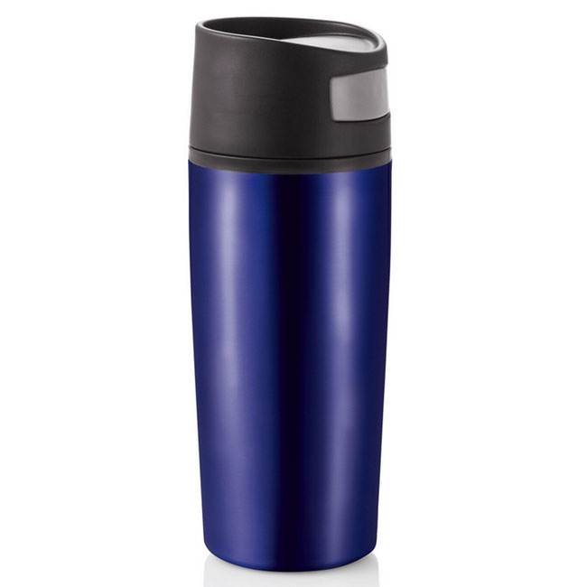 promotional Auto button leak proof tumbler 0.4 l,W4V4647,colour: Navy Blue,Mugs - China & Plastic,Water4Fish,promotional products
