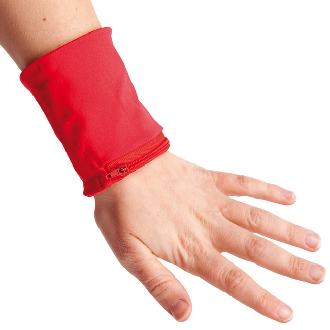 Wristband with wallet,Red,W4V4737,Wallets