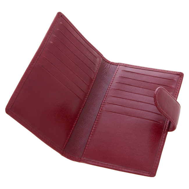 Woman leather business card holder,Red,W4V4807,Wallets