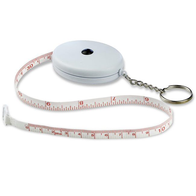 promotional Keyring, measuring tape 1.5 m,W4V5615,colour: White,Rulers & Measure Tapes,Water4Fish,promotional products