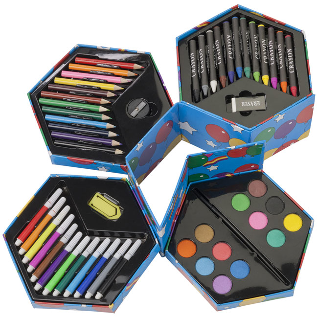 promotional Art set, 56 el,W4V6110,colour: Neutral,Pencils,Water4Fish,promotional products