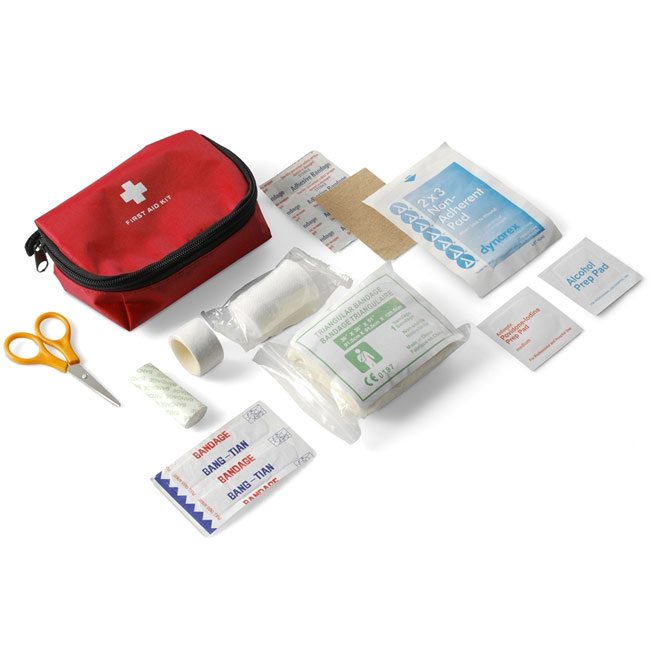 First aid kit in pouch 12 el,Red,W4V6151,Medical & Personal Care Items