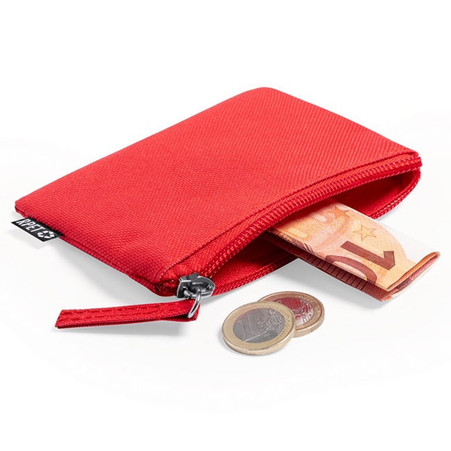 RPET key wallet, coin purse,Red,W4V6706,Wallets
