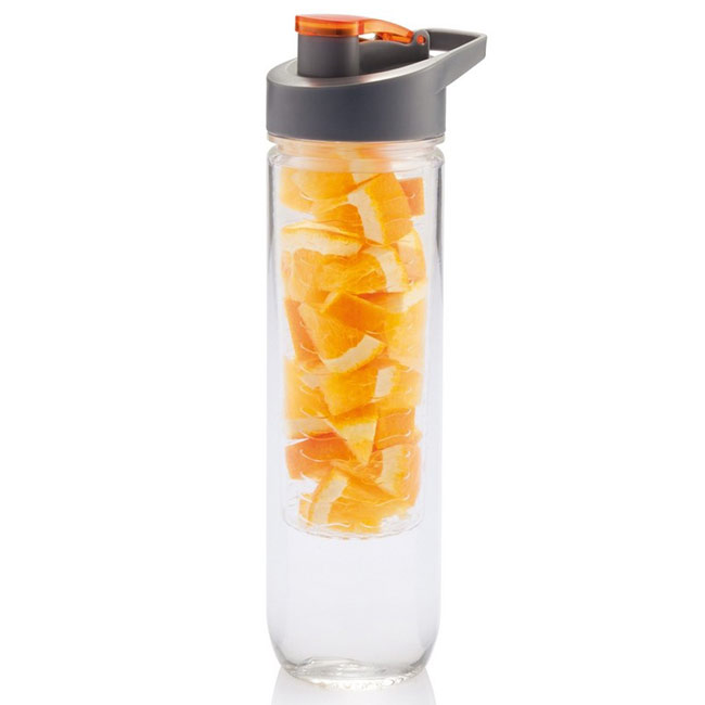 Sports bottle with fruit container,Orange,W4V7834,Travel Mugs