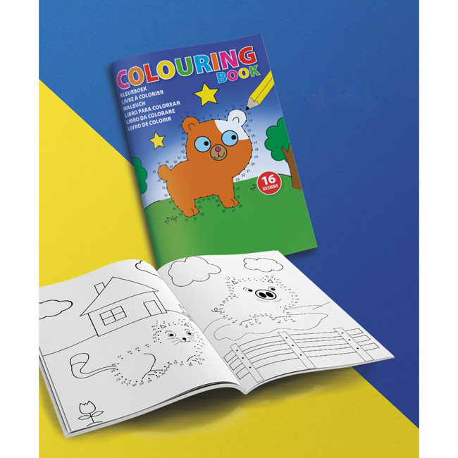 Colouring book A5,Multicolour,W4V9670,Kids Promo Items