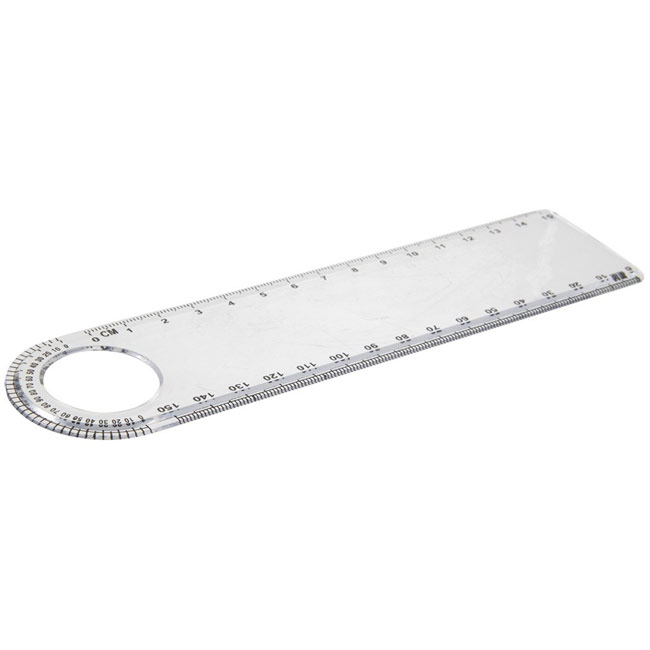 Ruler with loupe and protractor,Neutral,W4V9694,Rulers & Measure Tapes