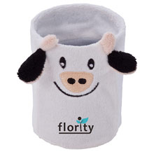 Promotional Fancy, plush cow, mug/pencil case