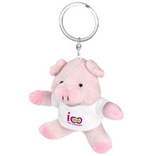 Promotional Audrie, plush piggy, keyring