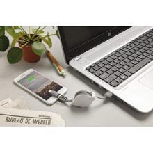 Promotional Retractable 3 in 1 charging and synchronization cable