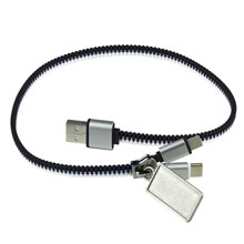 Promotional Charging cable zipper