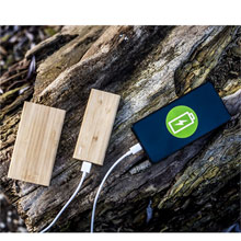 Promotional B'RIGHT bamboo power bank 8000 mAh