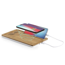 Bamboo wireless charger 5W, desk organizer
