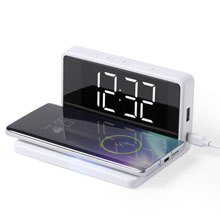 Promotional Wireless charger 5W with desk clock and alarm