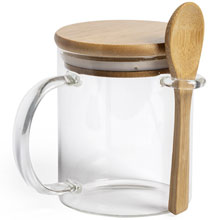 Promotional Mug 420 ml with spoon and lid