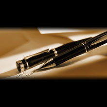 Charles Dickens ball pen in case