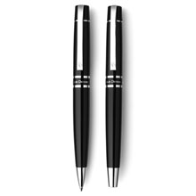 Promotional Charles Dickens writing set, ball pen and roller ball pen