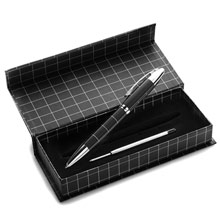 promotional Twist ball pen with silver parts,W4V1491,colour: Black,Pens & Pencils,Water4Fish,promotional products