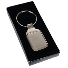promotional Rectangular keyring,W4V2829,colour: Silver,Keyrings & Keyfobs,Water4Fish,promotional products