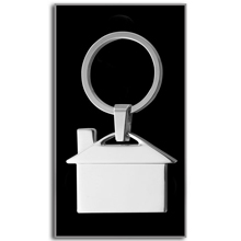 promotional Keyring house,W4V2084,colour: Silver,Keyrings & Keyfobs,Water4Fish,promotional products