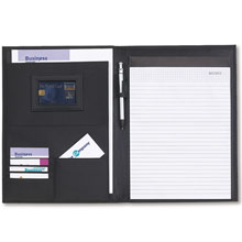 promotional Conference folder A4 with notepad,W4V2356,colour: Black,Conference bags & Folders,Water4Fish,promotional products