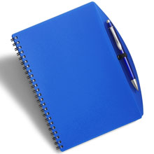 promotional Notepad / notebook A5 with ball pen,W4V2387,colour: Navy Blue,Notebooks,Water4Fish,promotional products