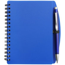 promotional Notepad / notebook A6 with ball pen,W4V2391,colour: Navy Blue,Notebooks,Water4Fish,promotional products