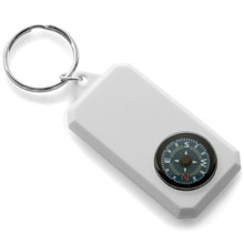 promotional Keyring with compass,W4V2451,colour: White,Keyrings & Keyfobs,Water4Fish,promotional products