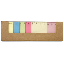 Sticky notes with ruler,Brown,W4V2496,Notebooks