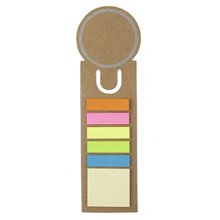 Bookmark with sticky notes and ruler,Brown,W4V2542,Notebooks