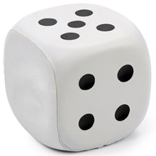 promotional Anti stress toy dice ,W4V2557,colour: White,Anti Stress Products,Water4Fish,promotional products