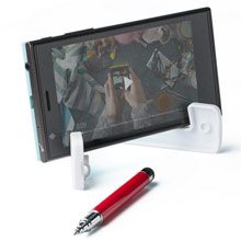 Promotional Phone stand with ball pen and touch pen