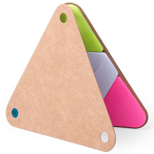 Promotional Memo holder triangle, sticky notes