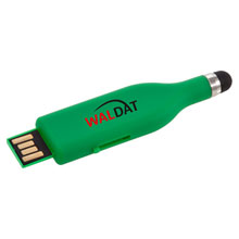 Promotional Slide USB memory stick with touch pen