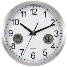 Promotional Wall clock, weather station