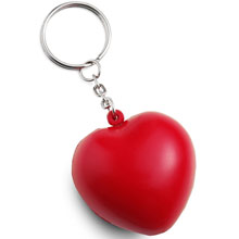 promotional Keyring, heart antistress toy,W4V4018,colour: Red,Anti Stress Products,Water4Fish,promotional products