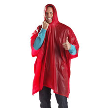 Promotional Vinyl poncho with hood