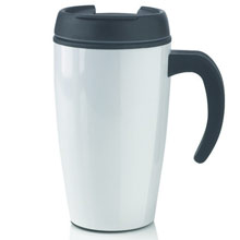 Leak proof mug 400 ml,W4V4132,colour: White,Black,Orange,Light Green,Blue,Silver,Mugs - China & Plastic,Water4Fish