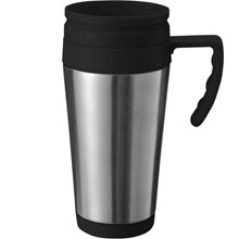 promotional Travel mug 420 ml,W4V4185,colour: Silver,Mugs - China & Plastic,Water4Fish,promotional products