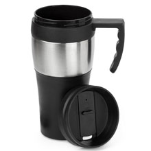 promotional Travel mug 500 ml,W4V4289,colour: Black,Mugs - China & Plastic,Water4Fish,promotional products