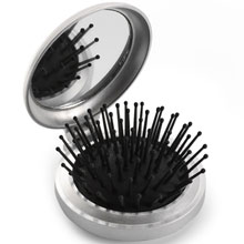 Hair brush with mirror,W4V4318,colour: Silver,Medical & Personal Care Items,Water4Fish