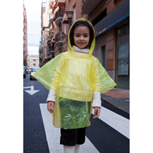 Promotional Kids poncho in ball