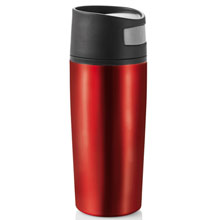 promotional Auto button leak proof tumbler 0.4 l,W4V4647,colour: Red,Mugs - China & Plastic,Water4Fish,promotional products