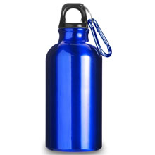 promotional Water bottle with carabiner clip,W4V4659,colour: Navy Blue,Red,Silver,Sport Items,Water4Fish,promotional products
