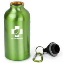 Water bottle with carabiner clip,Light Green,W4V4659,Sports Items